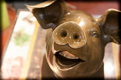 Philbert. Apparently Pike Place isn't the only market with a metal pig.